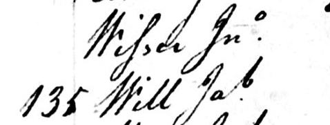 Jno. Wisser 1793 Census
