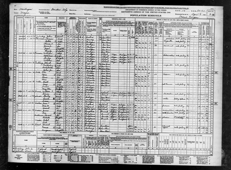 Dale Wisser 1940 census